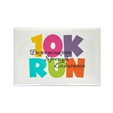 10K Run Multi-Colors Rectangle Magnet