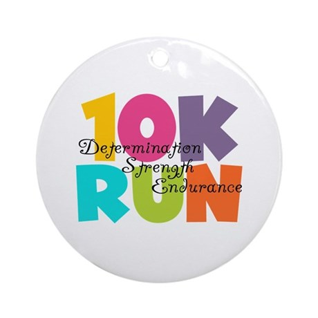 10K Run Multi-Colors Ornament (Round)