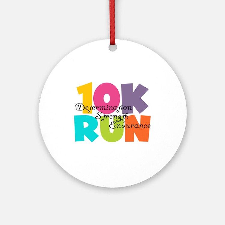 10K Run Multi-Colors Ornament (Round)