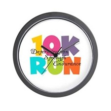 10K Run Multi-Colors Wall Clock