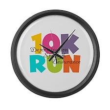 10K Run Multi-Colors Large Wall Clock