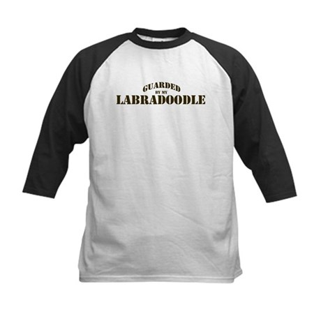 Labradoodle: Guarded by Kids Baseball Jersey
