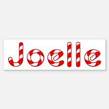 Joelle - Candy Cane Bumper Bumper Bumper Sticker