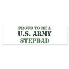 Proud Army Stepdad Bumper Car Sticker