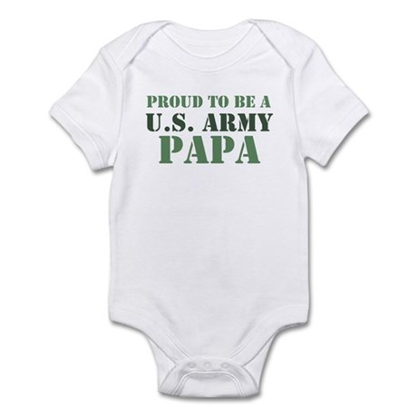 Proud Army Papa Infant Bodysuit