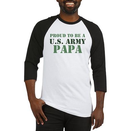 Proud Army Papa Baseball Jersey
