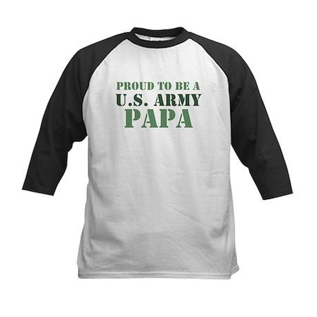 Proud Army Papa Kids Baseball Jersey