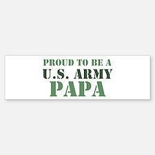 Proud Army Papa Bumper Bumper Bumper Sticker