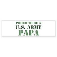 Proud Army Papa Bumper Car Car Sticker