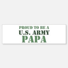 Proud Army Papa Bumper Car Car Sticker