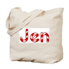 Jen - Candy Cane Tote Bag