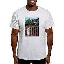Cat Flight Ash Grey T-Shirt