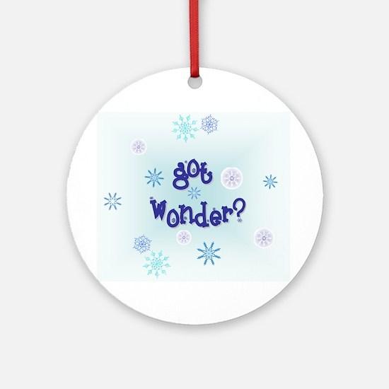 'got wonder?' Ornament (Round)