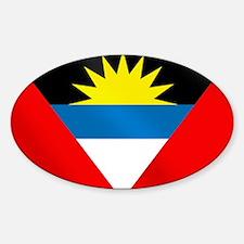 Antigua and Barbuda Flag Sticker (Oval)