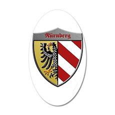 Nuremberg Germany Metallic Shield Wall Decal