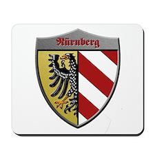 Nuremberg Germany Metallic Shield Mousepad