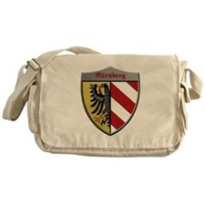Nuremberg Germany Metallic Shield Messenger Bag