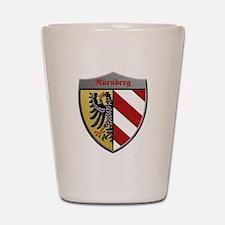 Nuremberg Germany Metallic Shield Shot Glass