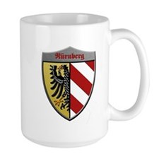 Nuremberg Germany Metallic Shield Mug