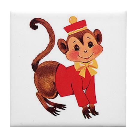 Circus Monkey Tile Coaster