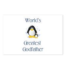 World's Greatest Godfather (penguin) Postcards (Pa
