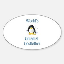 World's Greatest Godfather (penguin) Decal