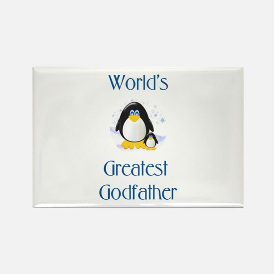 World's Greatest Godfather (penguin) Rectangle Mag