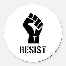 Resist Fist Liberal Politics Round Car Magnet