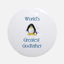 World's Greatest Godfather (penguin) Ornament (Rou