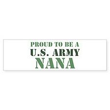 Proud Army Nana Bumper Car Car Sticker