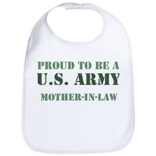 Proud Army Mother In Law Bib