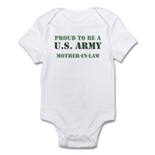Proud Army Mother In Law Infant Bodysuit