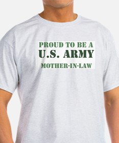 Proud Army Mother In Law Ash Grey T-Shirt