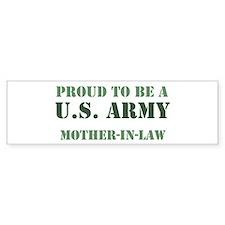 Proud Army Mother In Law Bumper Bumper Sticker