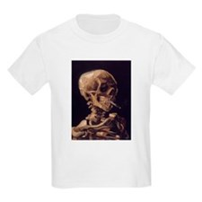 Vincent Van Gogh Skull with a Burning Cigarette T-
