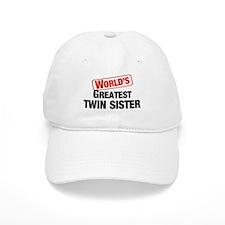 World's Greatest Twin Sister Baseball Cap