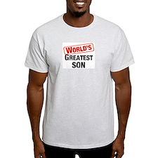 World's Greatest Son Ash Grey T-Shirt