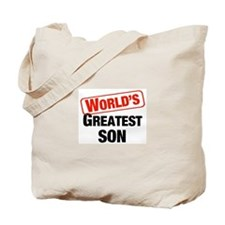 World's Greatest Son Tote Bag