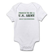 Proud Army Great Grandmother Infant Bodysuit