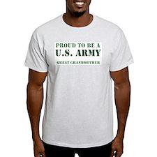 Proud Army Great Grandmother Ash Grey T-Shirt