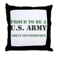 Proud Army Great Grandmother Throw Pillow