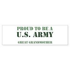 Proud Army Great Grandmother Bumper Car Sticker