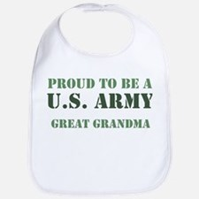 Proud Army Great Grandma Bib