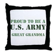 Proud Army Great Grandma Throw Pillow