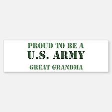 Proud Army Great Grandma Bumper Bumper Bumper Sticker