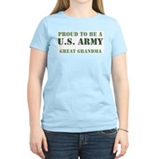 Proud Army Great Grandma Women's Pink T-Shirt