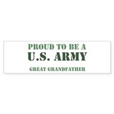 Proud Army Great Grandfather Bumper Car Sticker