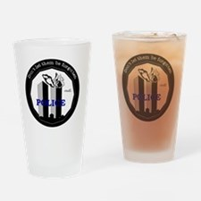 9-11 Police Drinking Glass