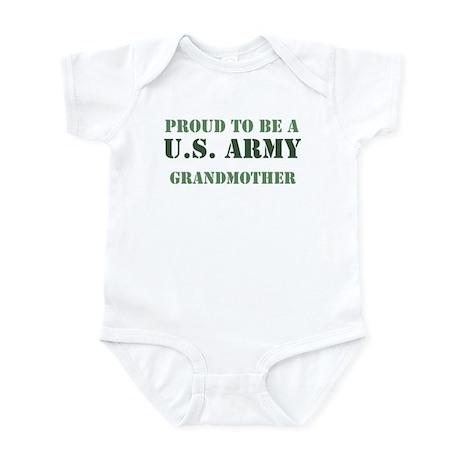 Proud Army Grandmother Infant Bodysuit