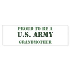Proud Army Grandmother Bumper Car Sticker